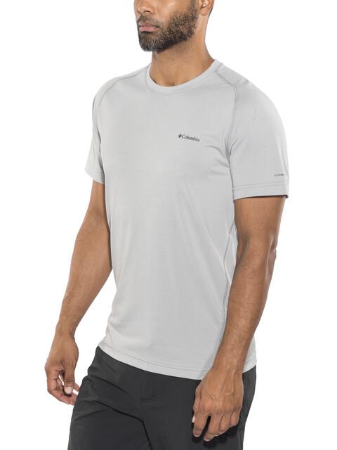 Columbia Mountain Tech III Short Sleeve Crew Shirt Men columbia grey